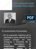 La Psicologia Humanista Como Nuevo Paradigma Psicologico