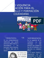 No Violencia Educación para el Desarrollo y Formación Ciudadana
