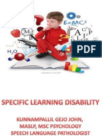 Specific Language Disability