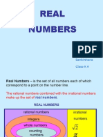 Real Numbers Shreya
