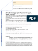Expanding Indications for Recombinant Human TSH in Thyroid Cancer
