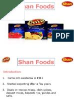 Presentation of Shan Foods