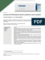 Actuacion Del Fisioterapeuta Durante La Gestacion Parto y Posparto