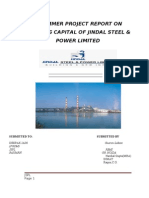 REPORT ON WORKING CAPITAL MGT OF JSPL