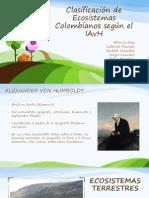 Clasificación de Ecosistemas Colombianos Según El IAvH (1)