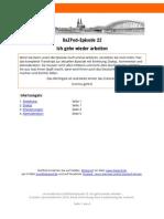 DaZPod 0022 IchGeheWiederArbeiten Transkript