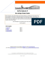 DaZPod 0027 Richtige Schule Finden Transkript