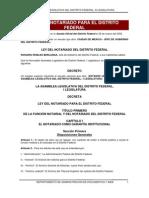 Ley del Notariado Para el Distrito Federal