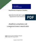 Análisis Armónico de Composiciones Musicales - Rodriguez