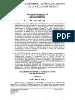 Reglamento Interior de La Central de Abasto del Distrito Federal