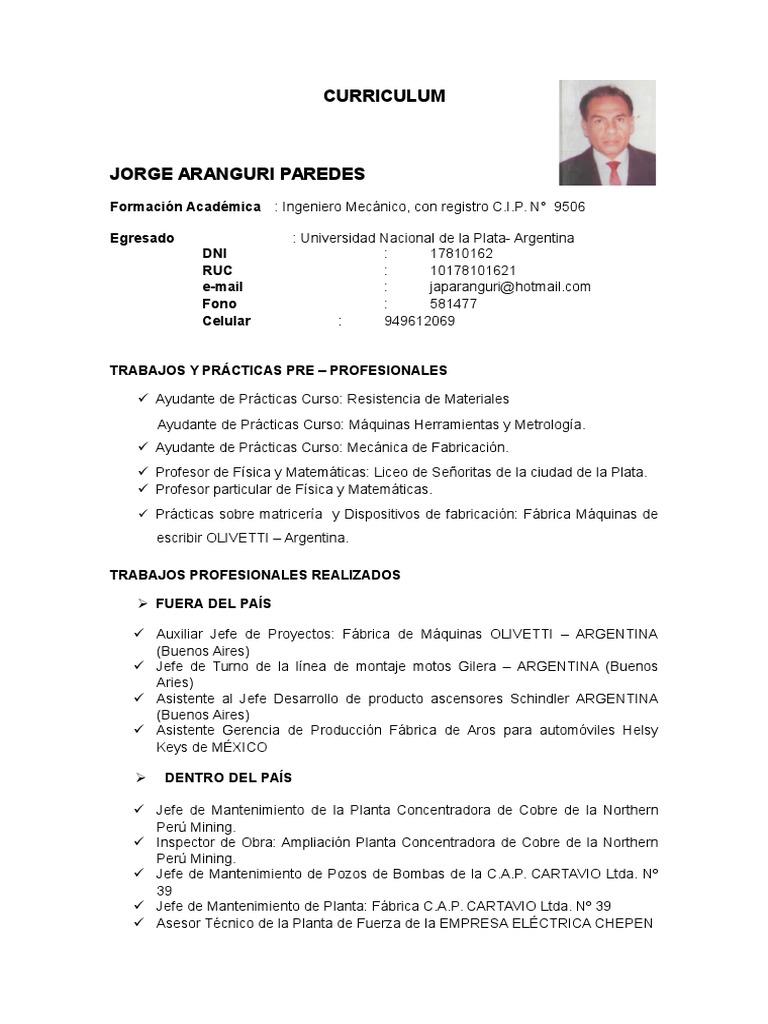 Encantador Descargar El Mejor Formato De Currículum Para Ingenieros ...