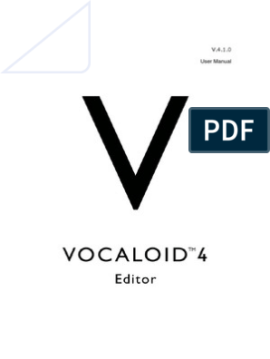 VOCALOID4 Editor Manual | Computer File | System Software