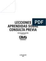 Lecciones Aprendidas Sobre Consulta Previa - CEJIS