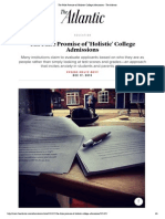 The False Promise of 'Holistic' College Admissions