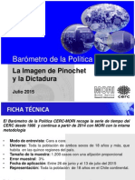Imagen de Pinochet y La Dictadura Barómetro de La Política Julio 2015
