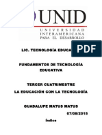 FUNDAMENTOS DE TECNOLOGÍA EDUCATIVA
