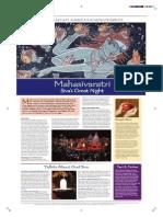 Hindu Festival Mahasivaratri Broadsheet Color
