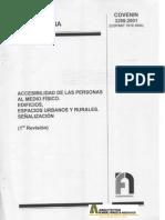 COVENIN 3298-2001 Accesibilidad de las personas al medio fisico. Edificios, espacios urbanos y rurales. Señalización.pdf