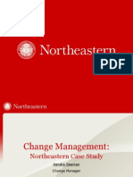 Change Management Case Study - Northeastern University