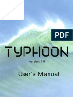 Typhoon User's Manual for the Yamaha TX16W Sampler