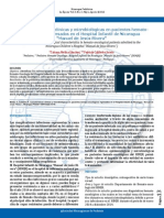 Características Clínicas y Microbiológicas en Pacientes Hemato-Oncológicos Ingresados en El HIMJR