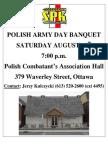 Polish Army Day Banquet