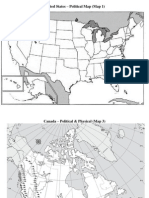 US and Canada Map Activity