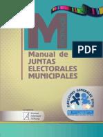 Manual de Juntas Electorales Municipales, 2015 - Tribunal Supremo Electoral de Guatemala