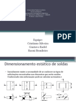 Dimensionamento Estatico Soldas