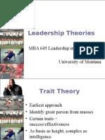 Leadership Theories 1