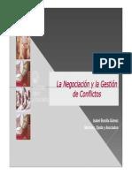 La negociación y la gestión de conflictos