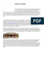 Learn Chinese In Beijing & Shanghai