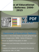 timeline of educational math reforms