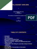 Federal Budget 2005-2006
