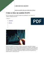b) Analisis Del Modelo de Gestion