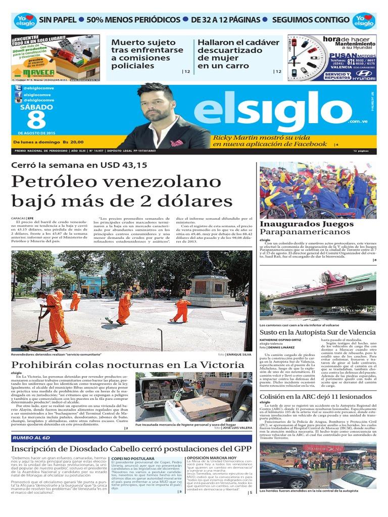 3ab9d33c1a Ediciòn Impresa El Siglo 08-08-2015   Venezuela   Lactancia materna