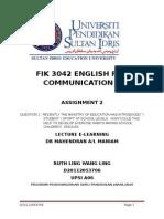 FIK 3042 ASSIGNMENT 2 - D20112053706