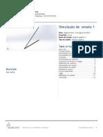 Exemplo Relatório de Análise Solidworks