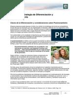 Lectura 7 - Estrategia y Diferenciación de Posicionamiento