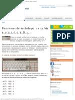 Funciones del teclado para escribir ü, é, á, í, ó, ú, ñ, Ñ, ¿, ¡ - Spanish G.pdf