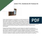 Carpintería De Aluminio Y Pvc, Instalacion De Ventanas En Vitoria