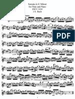 Bach - Sonata in E Minor for Flute and Piano (Flute)