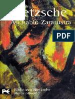 NIETZSCHE, Friedrich (1883-1885) - Así habló Zaratustra. Un libro para todos y para nadie (Alianza, Madrid, 1972-2003).pdf