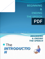 Beginning & Ending the Speech