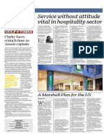 Service Without Attitude Vital in Hospitality Sector - Gulf Times 6 August 2015