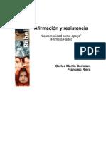 """AFIRMACION Y RESISTENCIA """"La comunidad como apoyo"""" (Primera Parte)"""