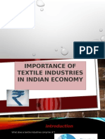 Importance of Textile Industries in Indian Economy New