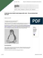 Crash Crash Linux Kernel