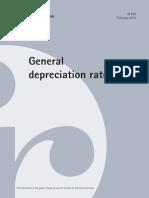 general depreciation rates