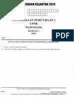 Percubaan UPSR 2015 - Kelantan - Matematik Kertas 1